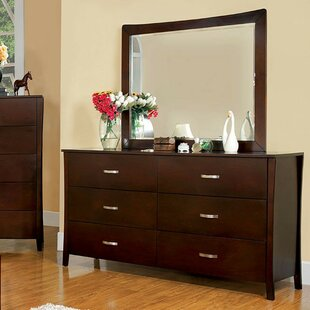 Haddon 6 Drawer Double Dresser with Mirror