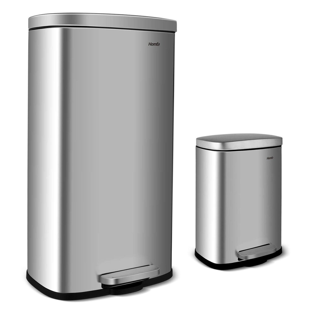 Trash Can Trash Trash Can Stainless Steel Trash Separator Re