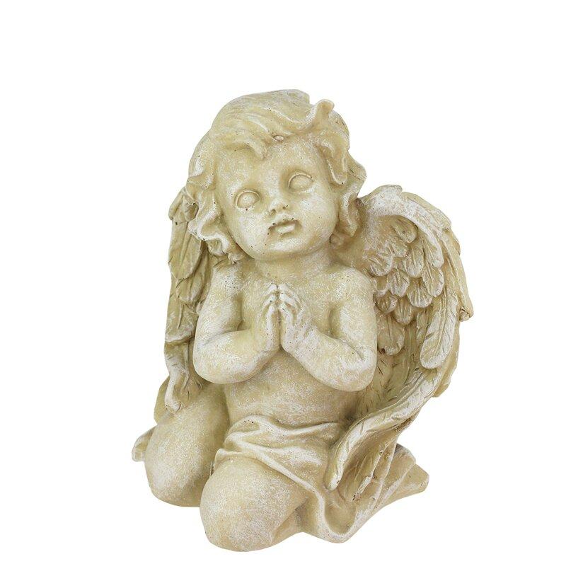 Elegant Heavenly Gardens Praying Cherub Angel Outdoor Patio Garden Statue