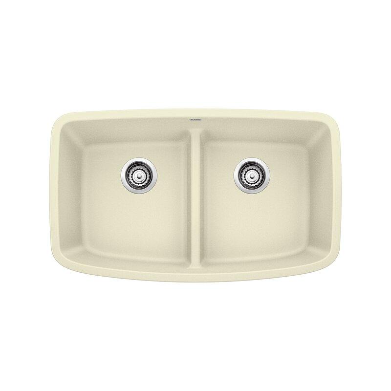 "Blanco Valea 32"" L  x  19"" W Double Basin Undermount Kitchen Sink"