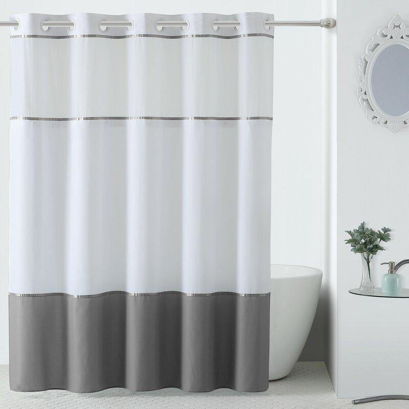 Hookless Windstar Shower Curtain With Peva Liner Reviews Wayfair
