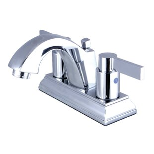 Kingston Brass NuvoFusion Centerset Bathroom Faucet with Drain Assembly