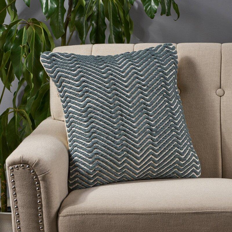Union Rustic Betty Cotton Geometric 18 Throw Pillow Cover Wayfair