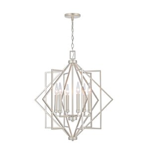 Landrum 6-Light Geometric Chandelier by Mercer41