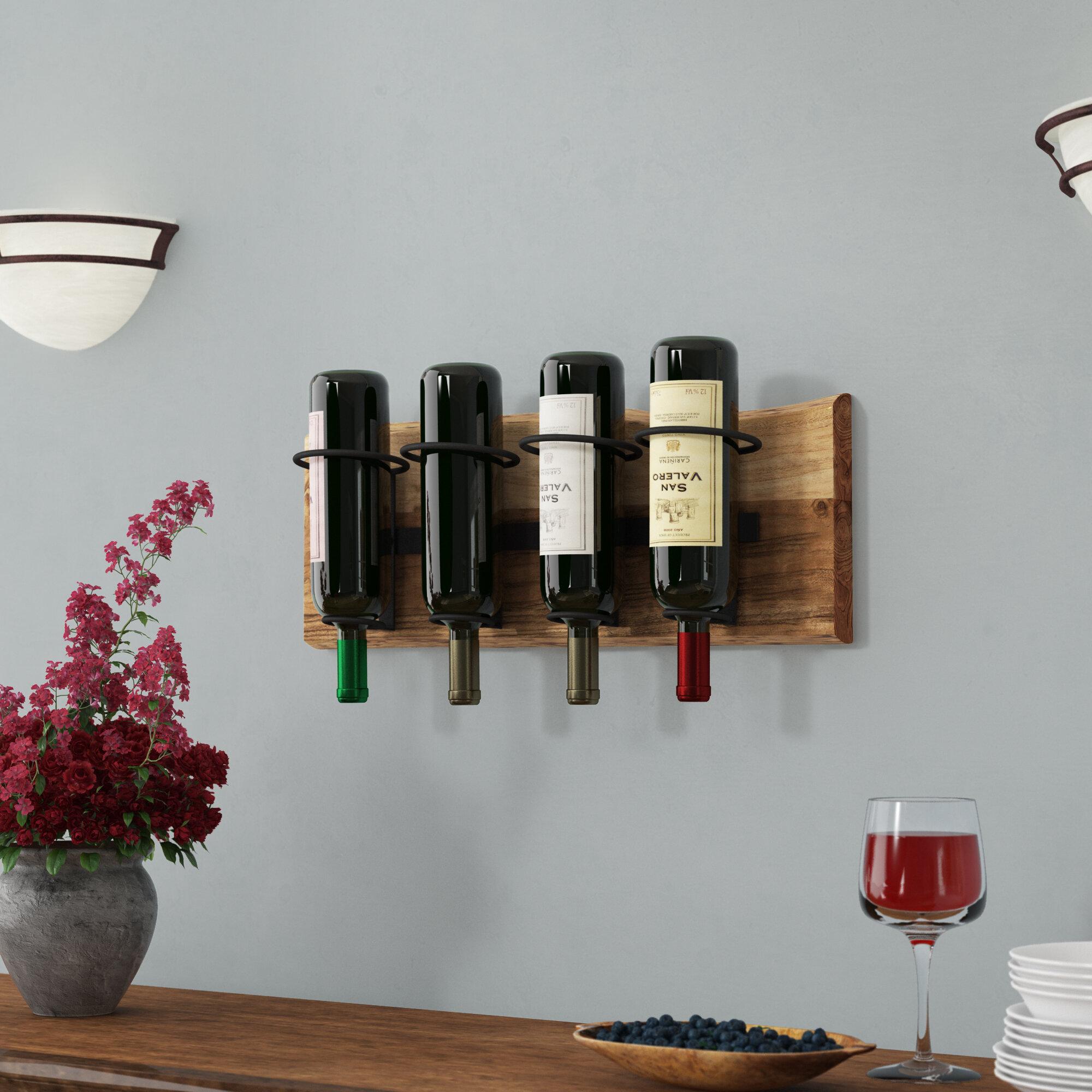 Support A Bouteille De Vin Mural support de bouteille de vin mural 4 bouteilles live edge bexton