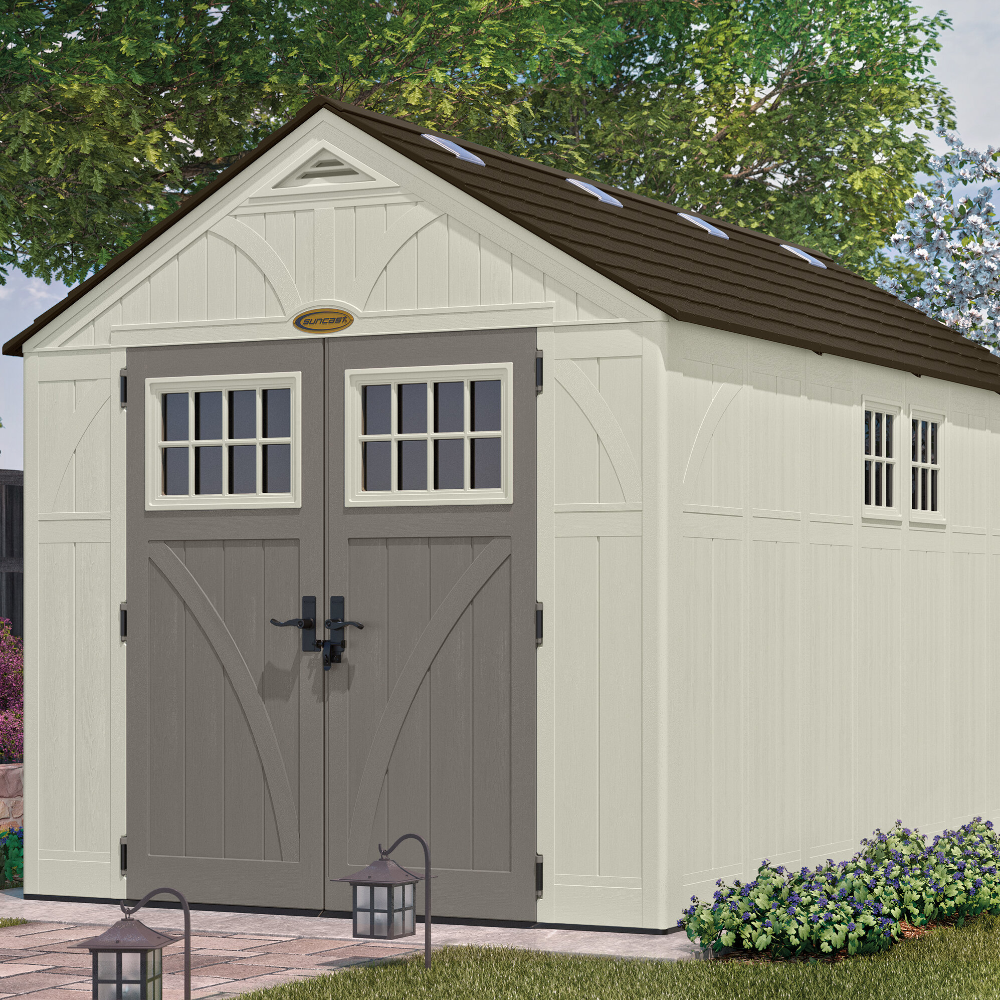 shed solution storage garden backyard your lofted