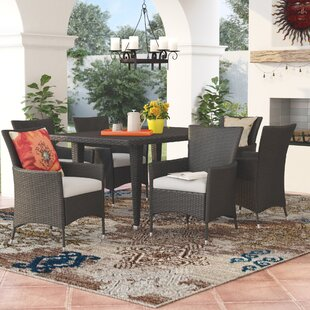 Red Barrel Studio Isiah 7 Piece Dining Set with Cushion