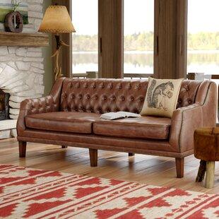 Allyssa Leather Sofa by Mi..