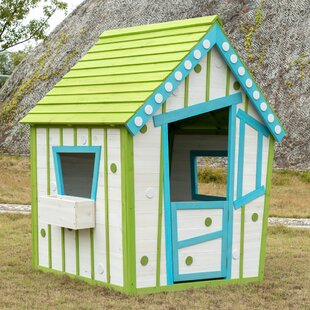 Crooked Wooden 4.1' X 3.6' Playhouse By Tierra Garden