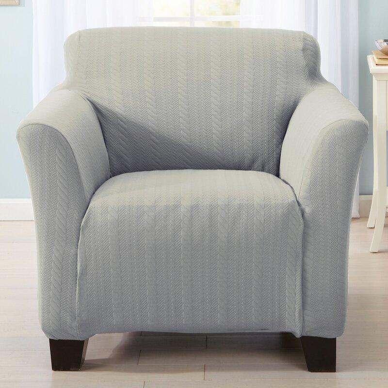 Home Fashion Designs Darla Box Cushion Armchair Slipcover ...