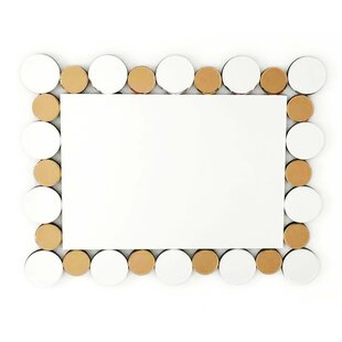 Fab Glass and Mirror Coins in the Fountain Rectangle Decorative Wall Mirror