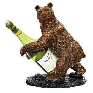 Pineiro Bear 1 Bottle Tabletop Wine Rack by Loon Peak