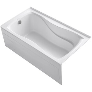 Hourglass Alcove Bath with Integral Apron and Tile Flange and Left-Hand Drain Kohler