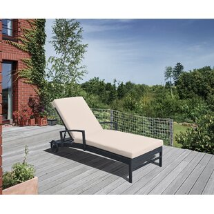 Gracie Oaks Hathaway Reclining Chaise Lounge with Cushion
