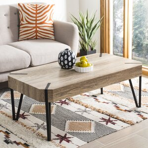 Christenson Wood Top Coffee Table by Ivy Bronx