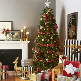 Green Spruce Artificial Christmas Tree with Warm White Lights