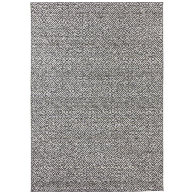 Croix Flatweave Grey Indoor Outdoor Rug