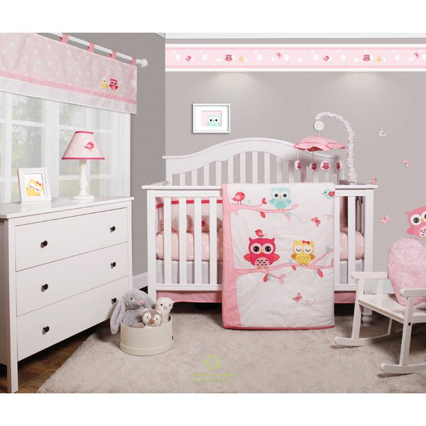 Harriet Bee Doncaster Enchanted Owls Family Baby Nursery 6 Piece Crib Bedding Set Reviews Wayfair