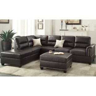 Price Check Eddie Reversible Sectional with Ottoman by A&J Homes Studio Reviews (2019) & Buyer's Guide