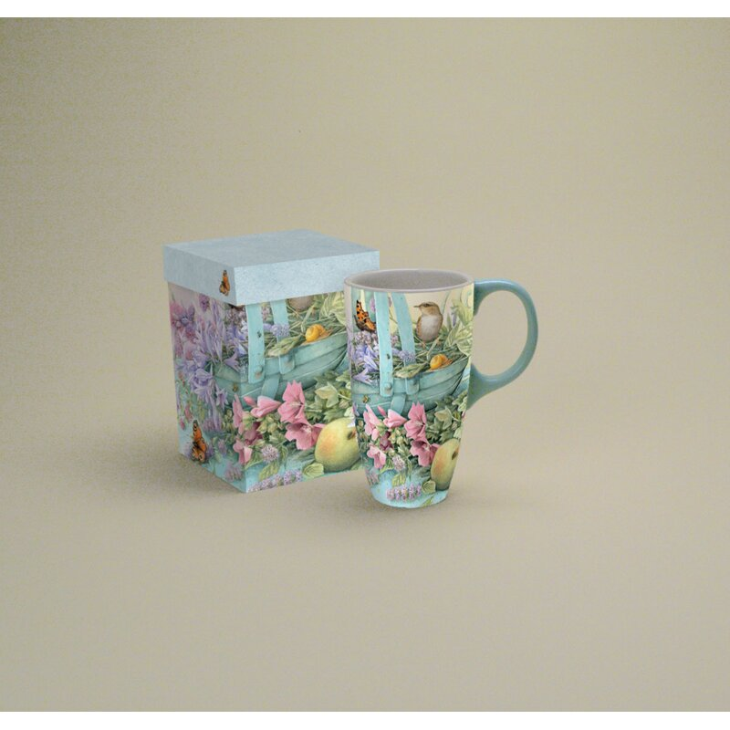 2ad484889bc Lang 18 oz. Basket Of Flowers Latte Mug | Wayfair