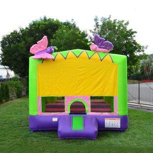 JumpOrange Glittery Butterfly Bounce House