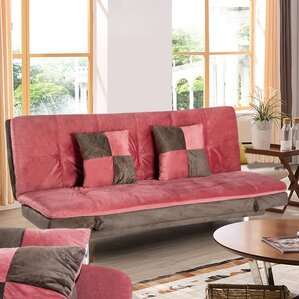 Louella Fabric Sleeper Sofa with 2 Pillows by Zipcode Design