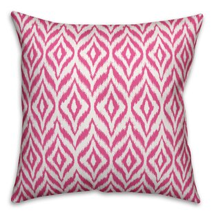 Linus Ikat Outdoor Throw Pillow