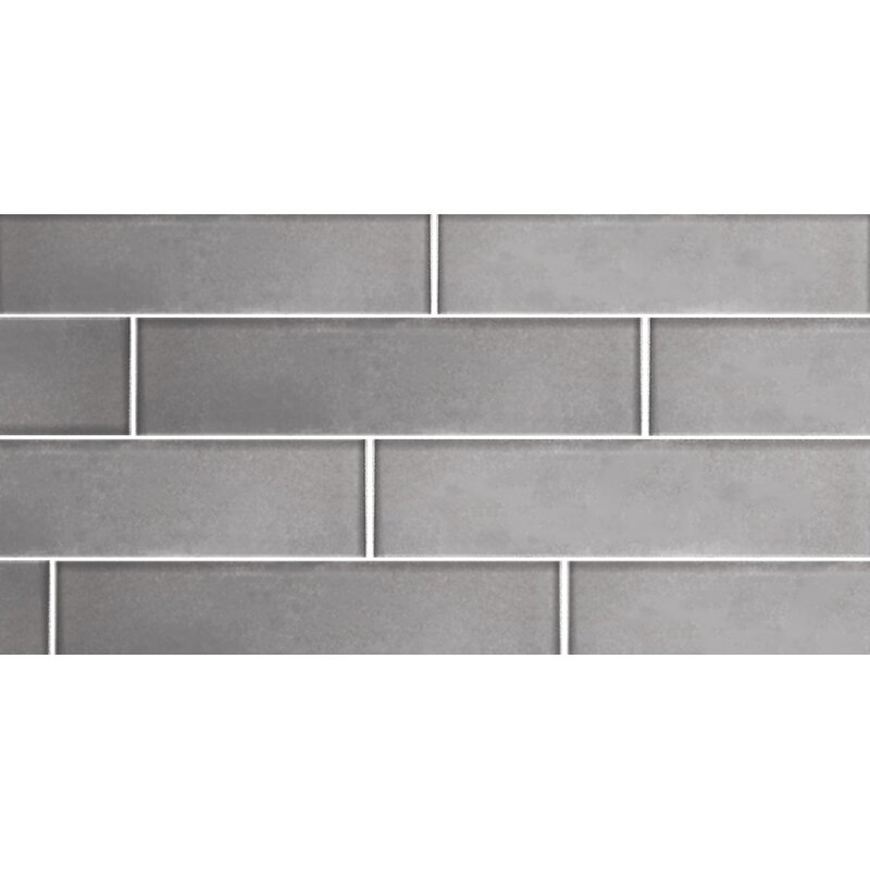 Abolos Secret Dimensions 3 X 6 Glass Subway Tile In Frosted Silver