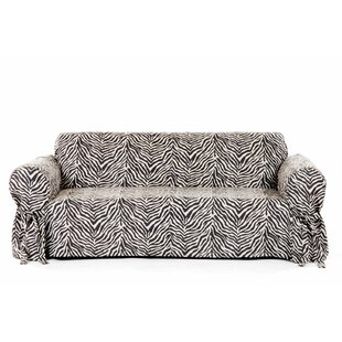 Comparison Zebra Print Box Cushion Sofa Slipcover by Classic Slipcovers Reviews (2019) & Buyer's Guide