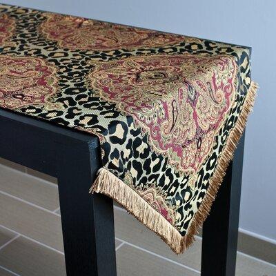 "Sherry Kline Tangiers Luxury Table Runner  Size: 90"" L x 18"" W"