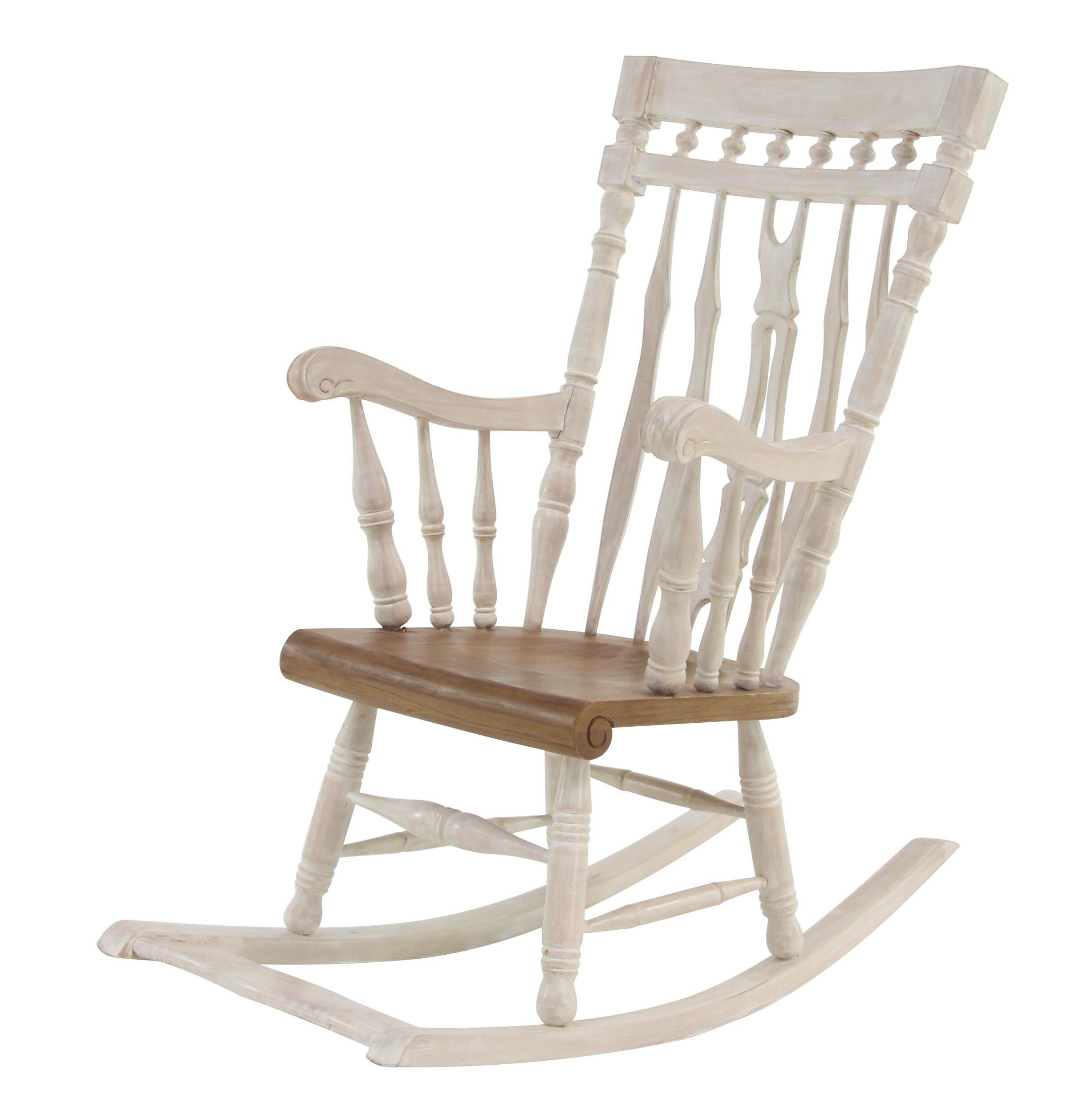 Superbe One Allium Way Letizia Traditional Rocking Chair | Wayfair