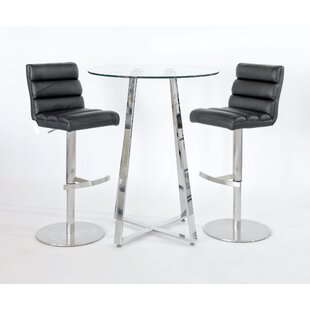 Sharla 3 Piece Pub Table Set By Metro Lane