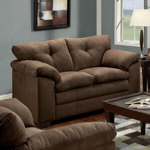 Simmons Upholstery Otto Microfiber Loveseat by Darby Home Co