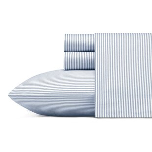 Ismael 200 Thread Count Striped 100% Cotton Percale Sheet Set
