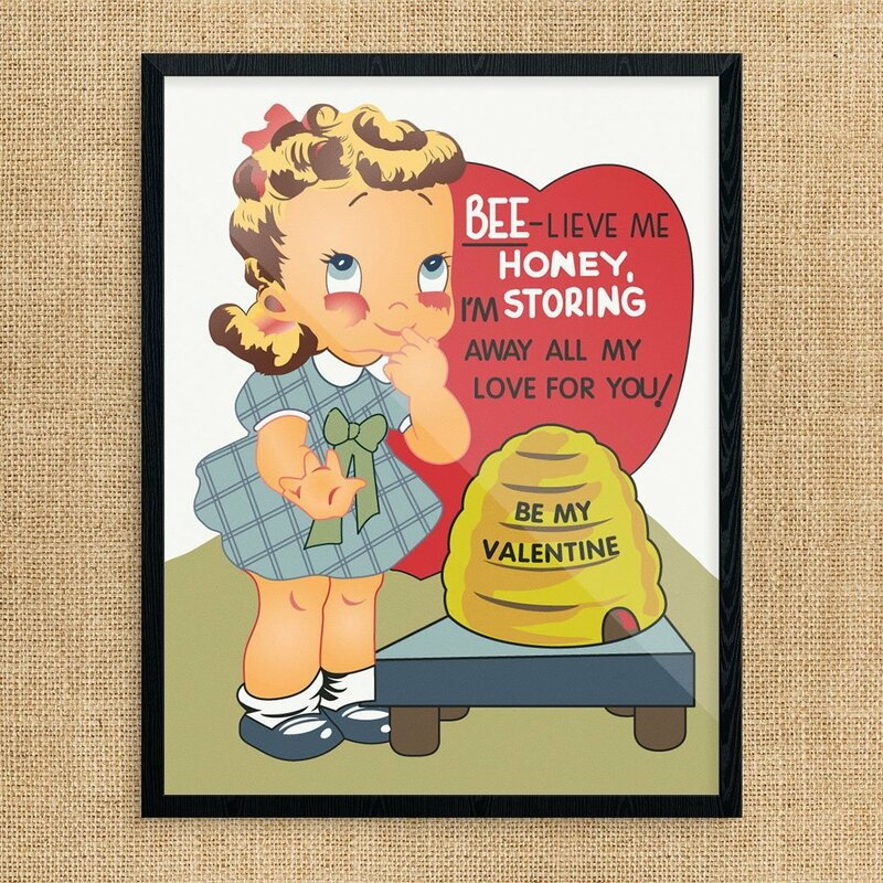 The Holiday Aisle Bee Live Me Honey Valentine S Day Graphic Art Print Wayfair