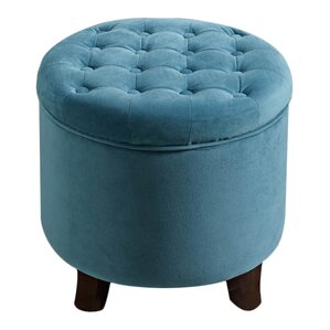 Beautiful Wilfred Round Storage Ottoman