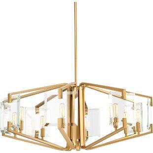 Mercer41 Janessa 8-Light Geometric Chandelier