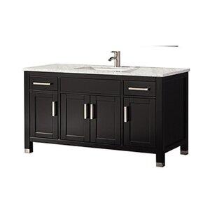 Price comparison Peralez Modern 60 Single Bathroom Vanity Set ByBrayden Studio