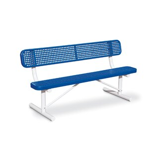 Anova Victory Perforated Steel Park Bench