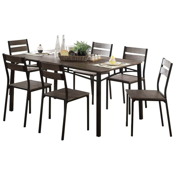7 Piece Counter Height Patio Dining Set