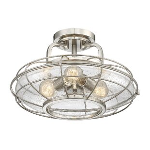 Trent Austin Design Roberts 3-Light Semi-Flush Mount