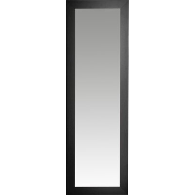Brayden Studio Satin Full Length Body Mirror Size: 64 H x 26 W x 0.75 D, Finish: Black