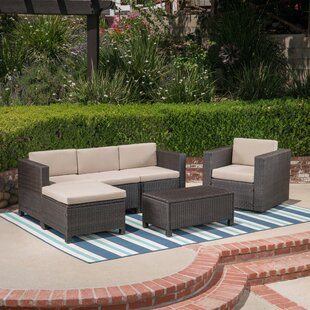 Carnasheeran Outdoor 6 Piece Sectional Seating Group with Cushions
