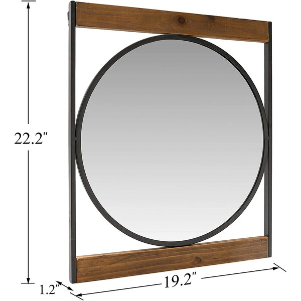 Kaczmarek Decorative Distressed Wall Mirror