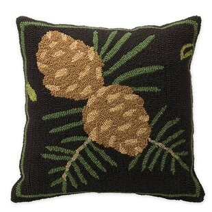 Woodland Pine Cones Outdoor Throw Pillow