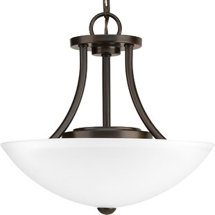 Chauvin 1-Light Semi Flush Mount by Charlton Home