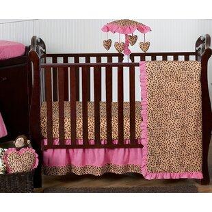 Cheetah Girl 11 Piece Crib Bedding Set BySweet Jojo Designs
