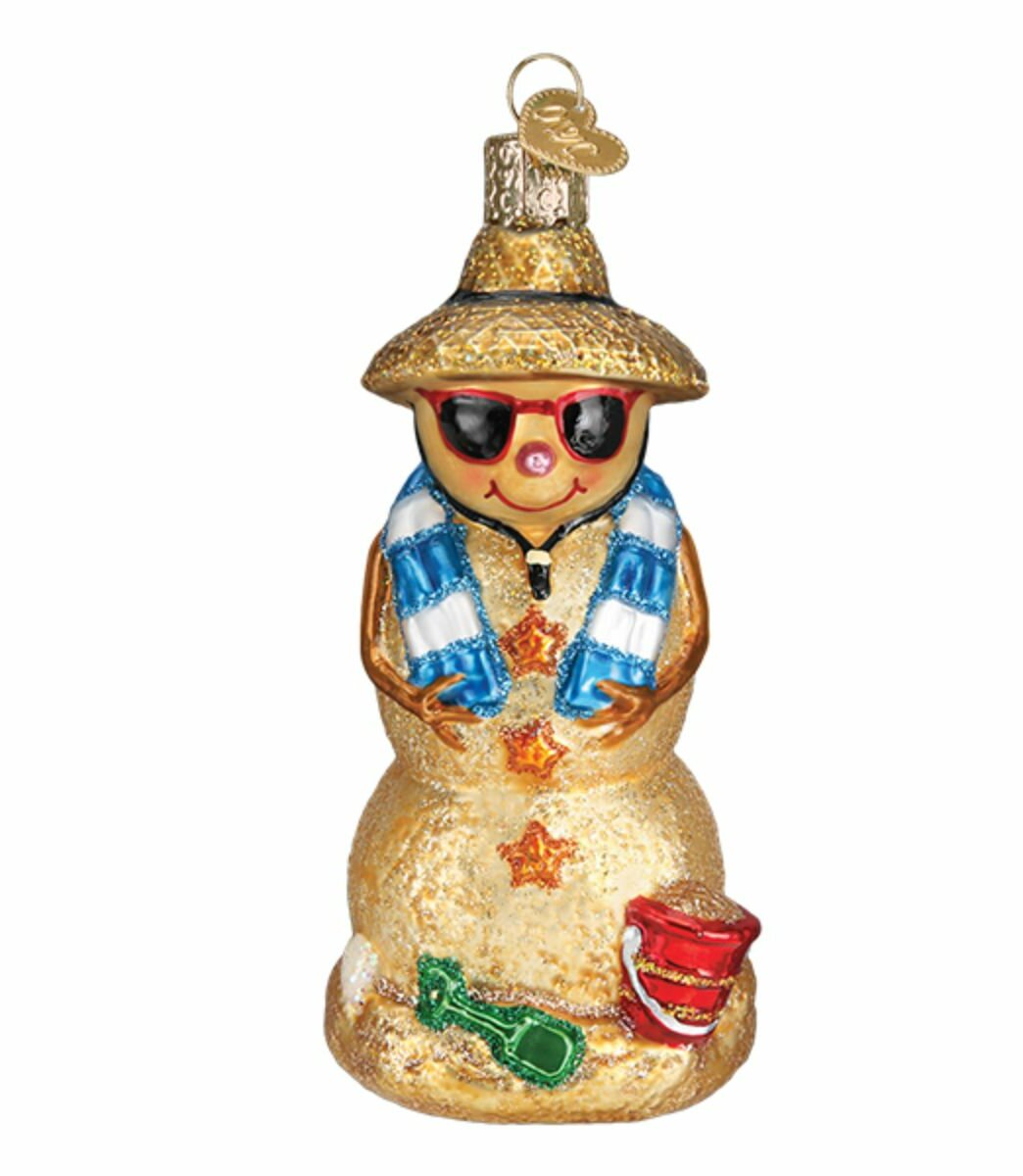 Old World Christmas Sand Snowman Hanging Figurine Ornament Wayfair