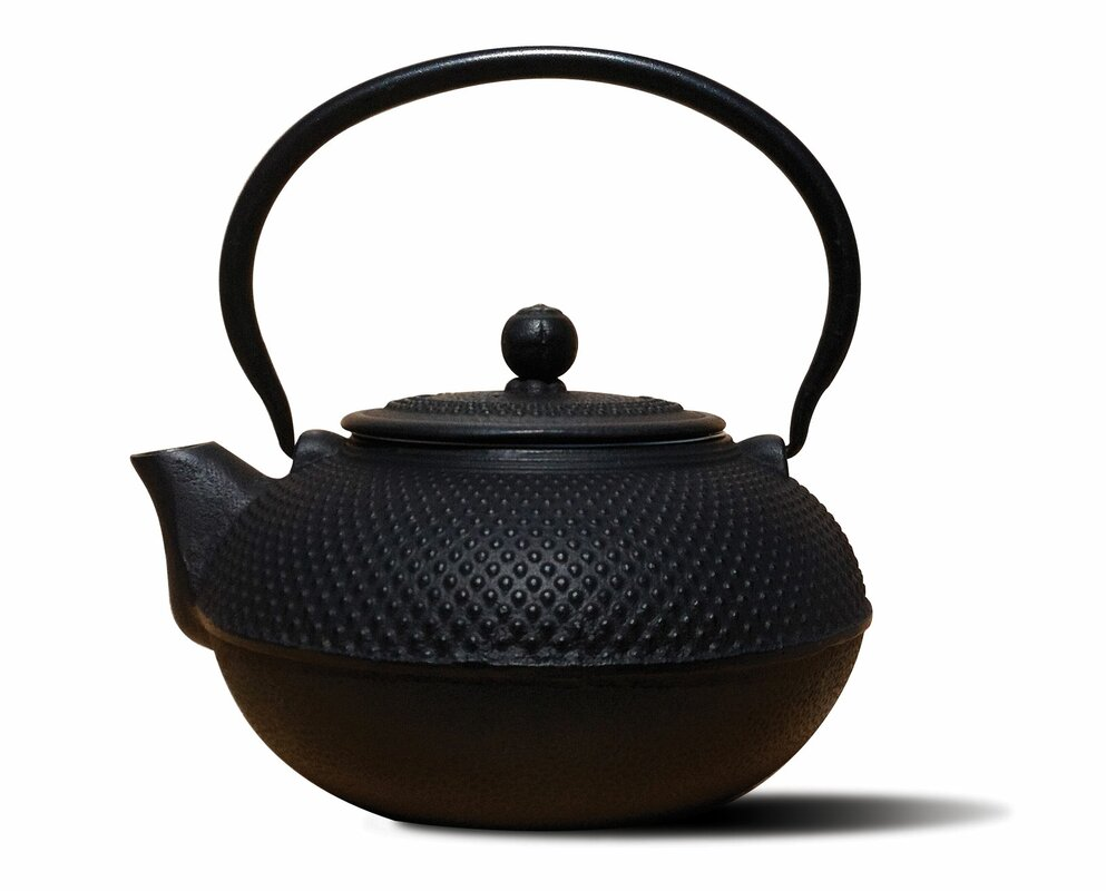 Black Cast Iron Teapot #blackteapot #castiron