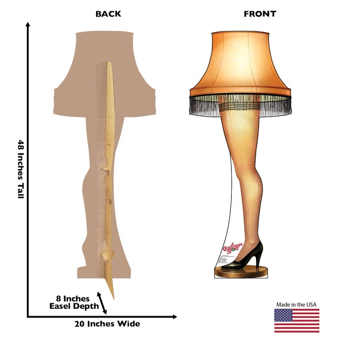 Leg Lamp A Christmas Story Cardboard Stand Up